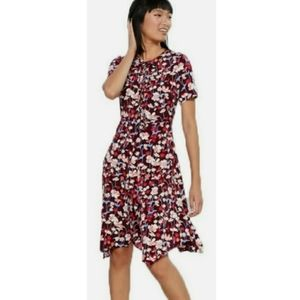 NWT Tommy Hilfiger Red floral Brookshire Dress